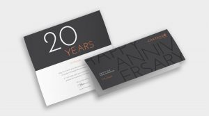 Sample Anniversary Card to market yourself as a real estate agent