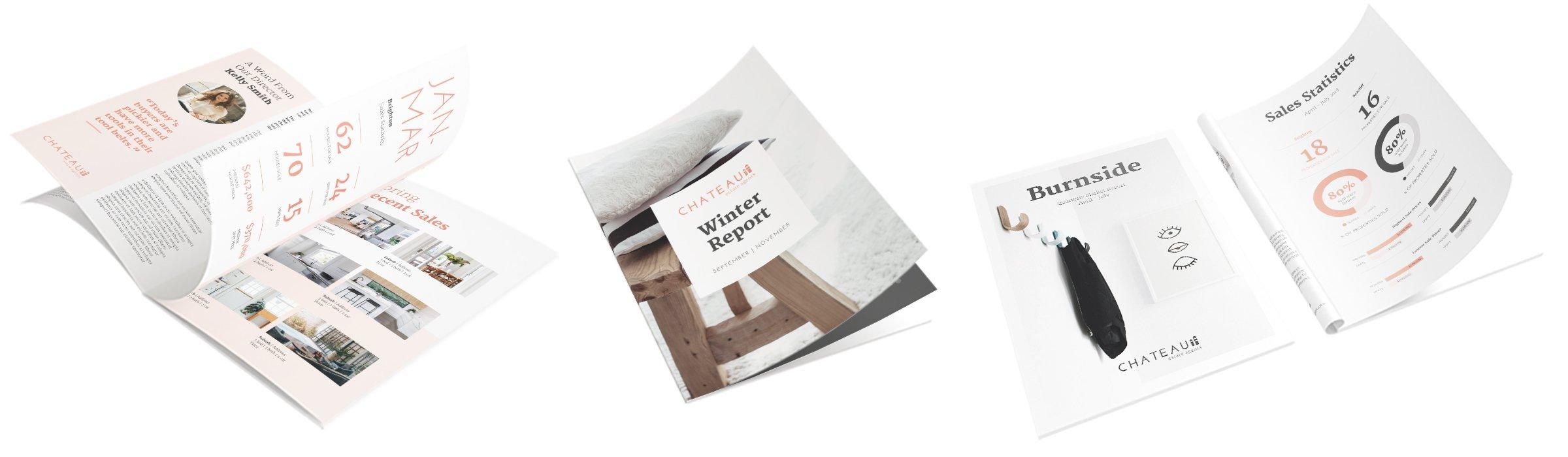 Postcode book - real estate print marketing